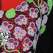 Одежда ручной работы. Ярмарка Мастеров - ручная работа Туника из хлопка Анютины глазки. Handmade.