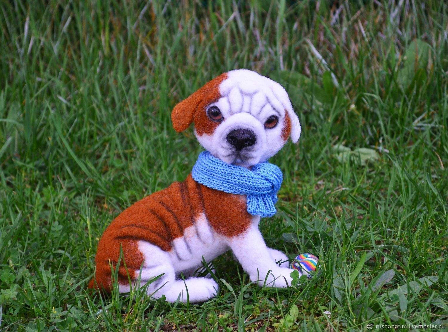 Felted Dog The Puppy American Bulldog Felted Toy Shop Online