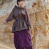 Одежда ручной работы. Ярмарка Мастеров - ручная работа Юбка из льна Черепица. Handmade.