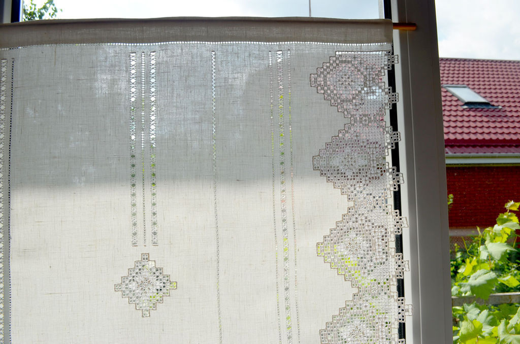 ... White Curtains, French Curtains, Curtains For Kitchen Curtains Custom Curtains  Embroidered Linen Curtains Curtains ...