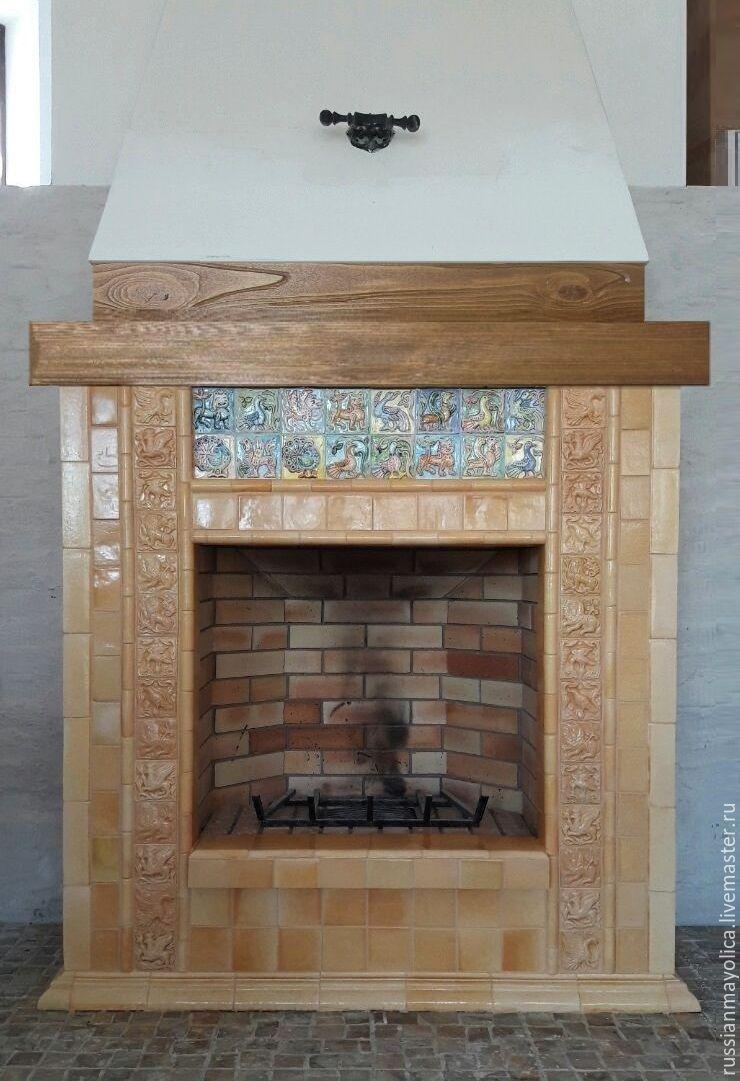 Caramel fireplace