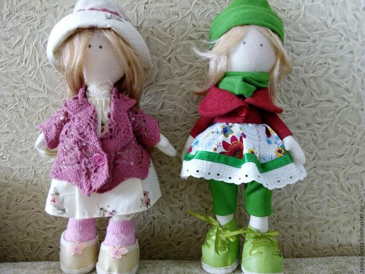 Куклы тыквоголовки ручной работы. Ярмарка Мастеров - ручная работа. Купить Интерьерные куклы. Handmade. Салатовый, тильда кукла