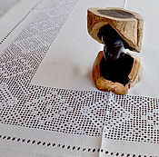 Для дома и интерьера handmade. Livemaster - original item Holiday large tablecloth, linen, white embroidery. Handmade.