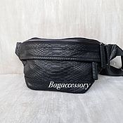 Сумки и аксессуары handmade. Livemaster - original item Faux leather waist bag. Handmade.