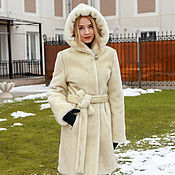 Одежда handmade. Livemaster - original item The under coat of pearl grey mink hood. Handmade.