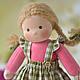 Вальдорфская игрушка ручной работы. Вальдорфская кукла Малинка, 30 см. Елена Белова (waldorf dolls). Интернет-магазин Ярмарка Мастеров.