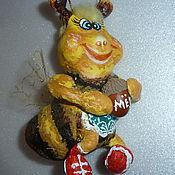 Куклы и игрушки ручной работы. Ярмарка Мастеров - ручная работа Пчёлка. Елочная игрушка. Handmade.