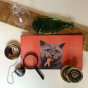 Для домашних животных, ручной работы. Ярмарка Мастеров - ручная работа Коврики / подставки под миску. Handmade.