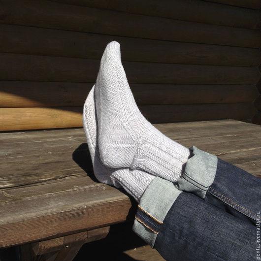 Носки, Чулки ручной работы. Ярмарка Мастеров - ручная работа. Купить Носки вязаные Grey. Handmade. Носки, Носки шерстяные