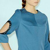 Одежда ручной работы. Ярмарка Мастеров - ручная работа Костюм и платье синие. Handmade.