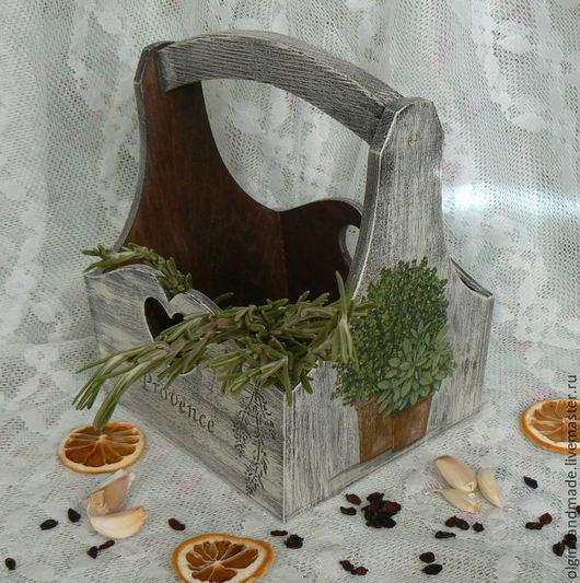 """Корзины, коробы ручной работы. Ярмарка Мастеров - ручная работа. Купить Корзинка """"Прованс"""". Handmade. Белый, короб для кухни, дерево"""