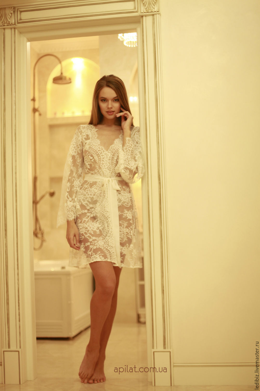 Short Bridal Robe