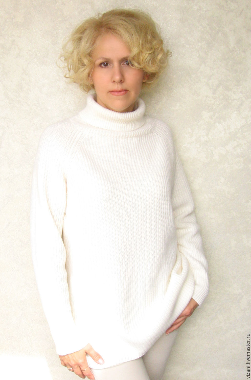 Кофты и свитера ручной работы. Ярмарка Мастеров - ручная работа. Купить Белый кашемировый свитер. ПРОДАН. Handmade. Белый