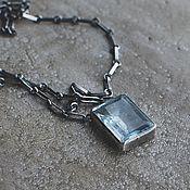 Украшения handmade. Livemaster - original item Aquamarine on a chain, silver. Handmade.