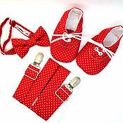 Работы для детей, handmade. Livemaster - original item set bow tie, suspenders and Modica
