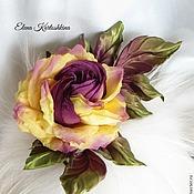 Украшения ручной работы. Ярмарка Мастеров - ручная работа Украшение из шелка. Цветок розы.Брошь заколка. Handmade.