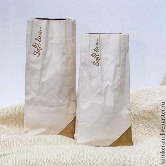 Ваза Стилизация, цвет кремовый.  Высота 22 и 25 см. Цена 800 руб за одну вазу, независимо от высоты.