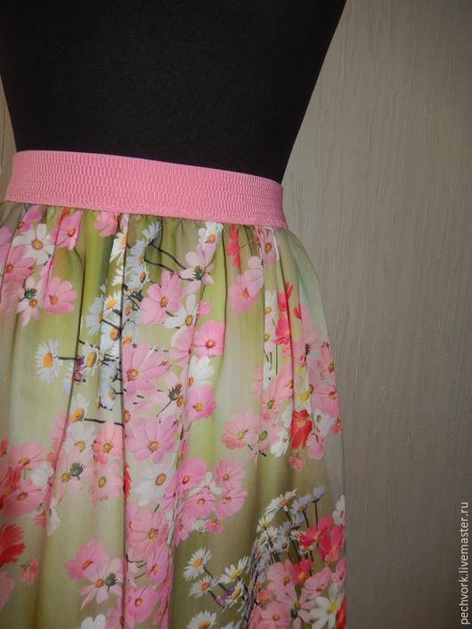 """Юбки ручной работы. Ярмарка Мастеров - ручная работа. Купить Шифоноывая юбка """"Камелия"""". Handmade. Розовый, мини юбка, шифон"""