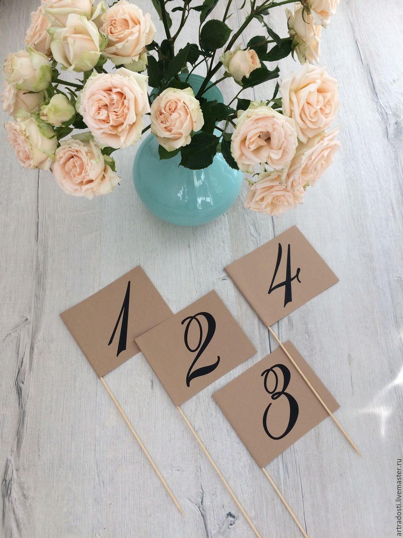 Номерки на столы на свадьбу своими руками фото 881