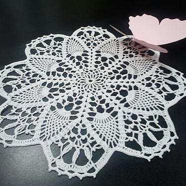 Для дома и интерьера ручной работы. Ярмарка Мастеров - ручная работа Салфетка белая. Handmade.