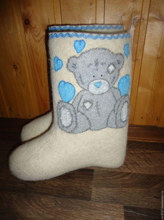 """Обувь ручной работы. Ярмарка Мастеров - ручная работа. Купить Валенки детские """"Тедди"""". Handmade. Белый, валенки ручной работы"""