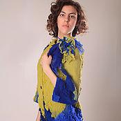 """Одежда ручной работы. Ярмарка Мастеров - ручная работа валяное пальто - кокон """"exotic blooming"""". Handmade."""