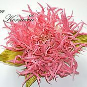 Украшения handmade. Livemaster - original item Silk flowers. Chrysanthemum