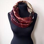 Аксессуары handmade. Livemaster - original item Scarf-necklace 710, Atlas. Handmade.