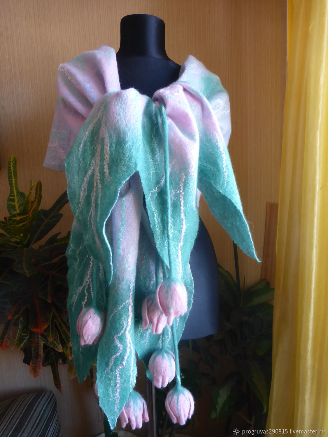 Felted stole ' Breath of Spring', Wraps, Votkinsk,  Фото №1