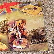 """Канцелярские товары ручной работы. Ярмарка Мастеров - ручная работа Обложка на паспорт """"Лондон"""". Handmade."""