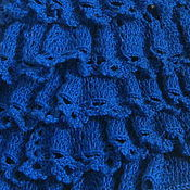 Работы для детей, handmade. Livemaster - original item SKIRT FOR GIRLS BLUE RUFFLE knit. Handmade.