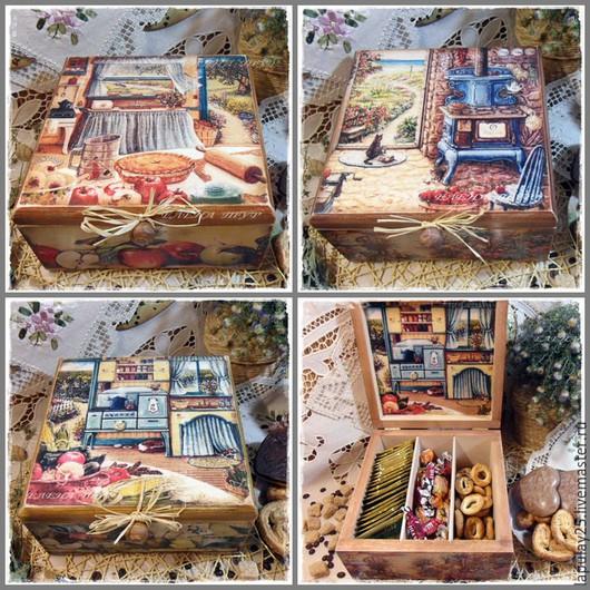 """Кухня ручной работы. Ярмарка Мастеров - ручная работа. Купить """"Домик в деревне"""" 3 вида шкатулок. Handmade. Шкатулка"""