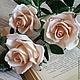 Интерьерные композиции ручной работы. Ярмарка Мастеров - ручная работа. Купить букет кремовых роз. Handmade. Интерьерная композиция