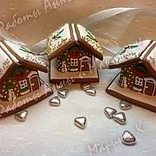 """Подарки к праздникам ручной работы. Ярмарка Мастеров - ручная работа Пряничный домик """"Новый год в миниатюре"""". Handmade."""
