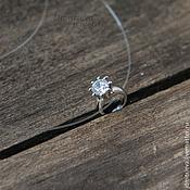 Украшения handmade. Livemaster - original item Pendant in the form of a ring with zircon. Handmade.