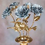 Цветы ручной работы. Ярмарка Мастеров - ручная работа Жестяная роза, модель №2. Handmade.