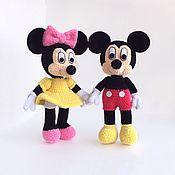 Мягкие игрушки ручной работы. Ярмарка Мастеров - ручная работа Мышки: Микки Маус и Минни Маус. Handmade.
