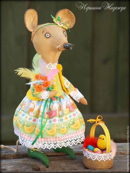 Ароматизированные куклы ручной работы. Ярмарка Мастеров - ручная работа. Купить Здравствуйте, я ваша Пасха! Праздничная Мышка.. Handmade. Желтый