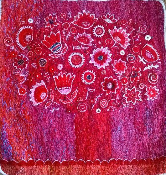 Картины цветов ручной работы. Ярмарка Мастеров - ручная работа. Купить красный  букет. Handmade. Ярко-красный, интерьерная картина