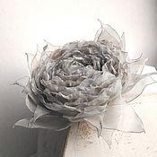 Украшения handmade. Livemaster - original item Brooch hair clip with fabric flower. Vintage rose. Handmade.