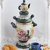 """Для дома и интерьера ручной работы. Ярмарка Мастеров - ручная работа Самоварчик """"Ароматный чай"""". Handmade."""