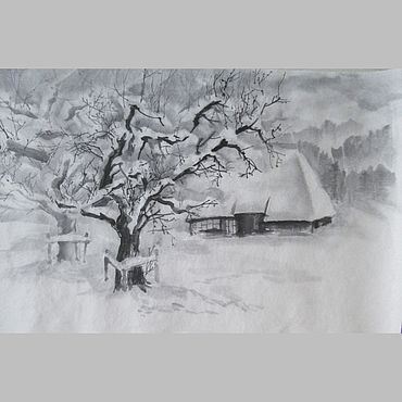 Картины и панно ручной работы. Ярмарка Мастеров - ручная работа Картины: Шубка для деревьев. Handmade.