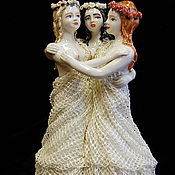 Для дома и интерьера handmade. Livemaster - original item The three graces. Handmade.