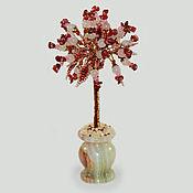 handmade. Livemaster - original item Tree of rose quartz and coral