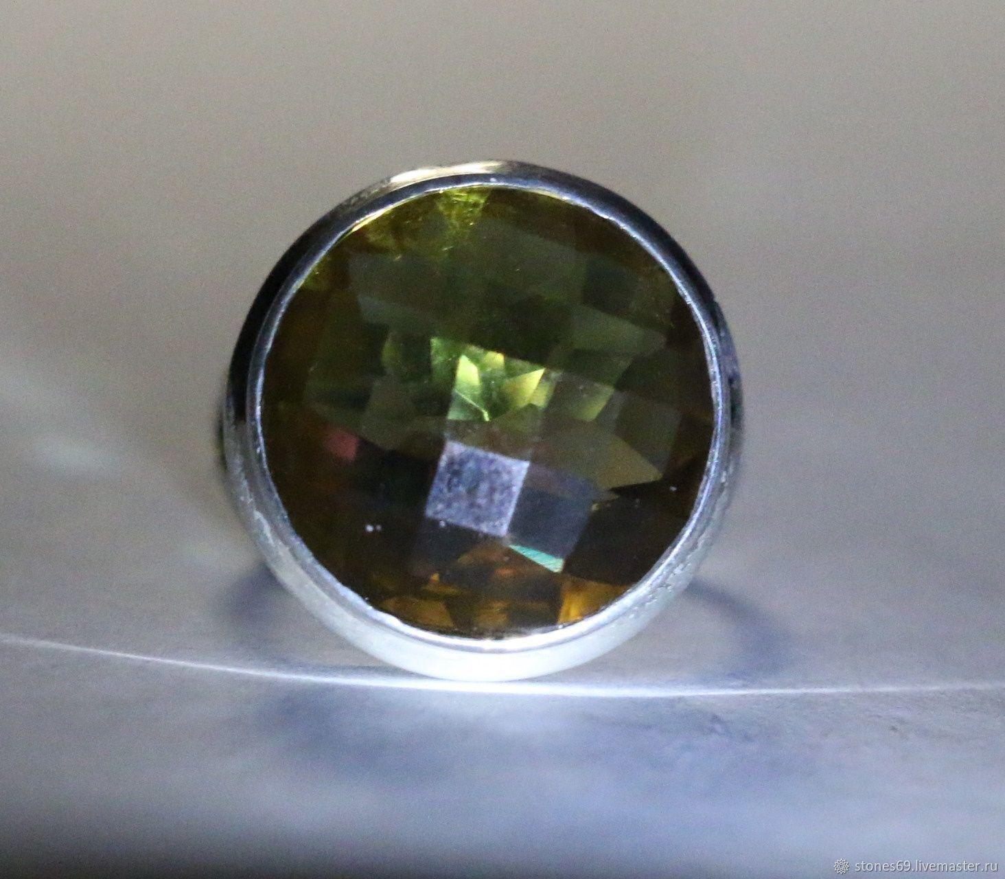 Кольцо султанит диаспор серебро 925 родий, Кольца, Москва,  Фото №1