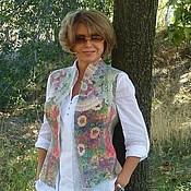 Одежда ручной работы. Ярмарка Мастеров - ручная работа Жилет Итальянская мозаика- войлок. Handmade.