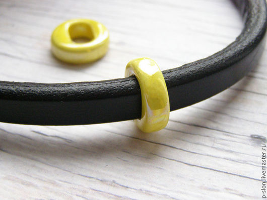 Для украшений ручной работы. Ярмарка Мастеров - ручная работа. Купить Керамическая бусина для regaliz (регализ) 5мм желтая рег73. Handmade.