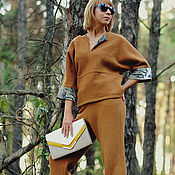 Одежда ручной работы. Ярмарка Мастеров - ручная работа Стильный костюм  бохо из шерсти. Handmade.