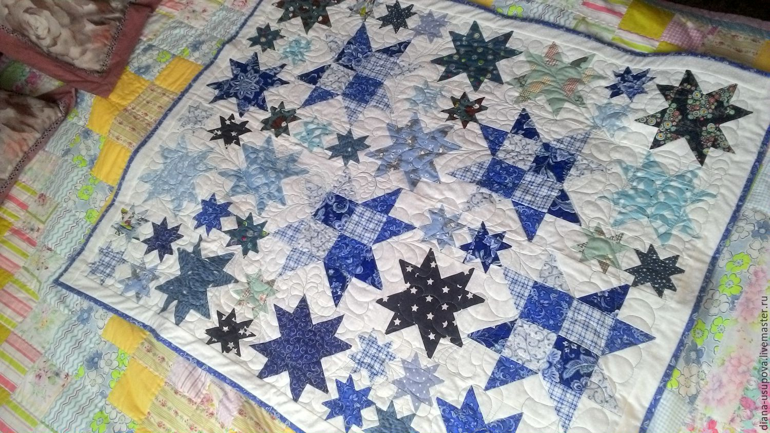 Plaids and blankets handmade. Livemaster - handmade. Buy Children's blanket 'frost'.Bedspread patchwork, fabric for patchwork
