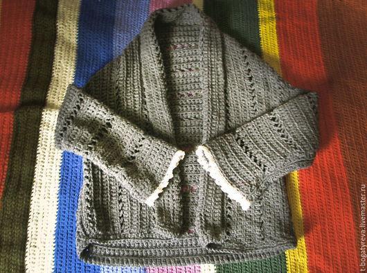 Кофты и свитера ручной работы. Ярмарка Мастеров - ручная работа. Купить бохо пиджак. Handmade. Серый, пиджак женский, тепло